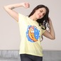 Printed Cute T-Shirt In Yellow