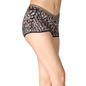 Printed High Waist Boyshorts with Contrast Elastic Bands - Black