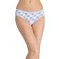 Printed Mid-Waist Bikini - Blue