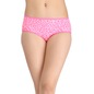Printed Mid Waist Hipster- Pink