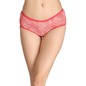 Printed Mid-Waist Hipster with Contrast Elastic - Red