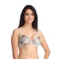 Printed Push-Up Demi Cup T-Shirt Bra - Skin