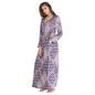 Printed Woollen Full Sleeves Nighty - Blue