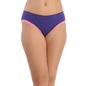 Purple Cotton Spandex Bikini With Contrast Lace At Leg Opening