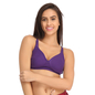 Purple Cotton Non-Padded Non-Wired Bra