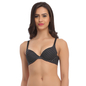 Push Up Bra In Black With Detachable Straps & Laser Cut Finish