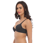 Push Up Bra In Black With Detachable Straps & Laser Cut Finish_2