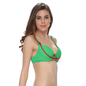 Push Up Bra In Sea Green With Detachable Straps & Funky Design
