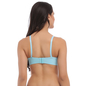 Push Up Bra In Sky Blue With Laser Cut Finish & Detachable Straps