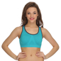 Racerback Padded Sports Bra In Blue