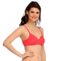 Padded T-Shirt Bra In Red With Detachable Straps