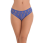 Royal Blue Lace Bikini With 5 String Crescent