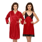 Satin & Lace Nightslip with Robe