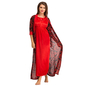 Satin Nighty & Robe Set - Red_6