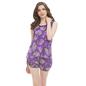 Satin Printed Top & Shorts Nightsuit - Purple