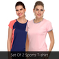 Set Of 2 Activewear Set In Pink & Orange