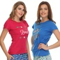 Set of 2 Cotton Graphic T-shirts