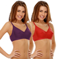 Set Of 2 Cotton Rich Non Padded Full Support Bra