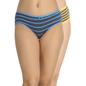 Set of 2 Cotton High Waist Bikinis - Blue & Yellow
