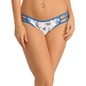 Set of 2 Cotton Mid Waist Bikinis - Blue & Pink