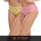 Set Of 2 Panties In Pink & Yellow