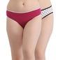 Set Of 2 Printed Mid Waist Bikini - Multicolor