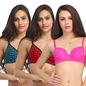 Set Of 3 Bra In Multicolor