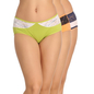 Set Of 3 Cotton & Lace High Waist Hipsters - Green, Orange & Pink