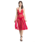 Sheer Red Plunged Neck Night Dress