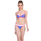 2 Pc Polyamide Swimsuit of Balconette Bra & Bikini In Navy