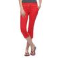 Soft Cotton Comfy Capri In Red