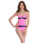 Soft Polyamide Monokini SwimSuit In Light Pink