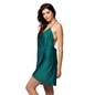 String Back Over lap Short Nightdress - Green