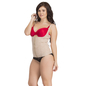 Waist Cincher In Skin With Detachable Straps & Side Bust Control