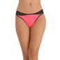 Thong In Light Pink With Contrast Lacy Waistband