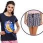 Trendy Graphic T-Shirt With Short In Navy Blue