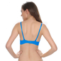 Polyamide with Spandex Graphic Print Bra In Blue