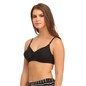 Cotton Non-Padded Wirefree T-shirt Bra With Moulded cups - Black