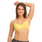 Cotton Non-Padded Wirefree T-shirt Bra With Moulded cups - Yellow