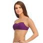 Non-padded Wirefree Tube Bra With Detachable Straps - Purple
