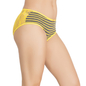 Yellow Cotton Spandex Bikini With All Over Lace At Back