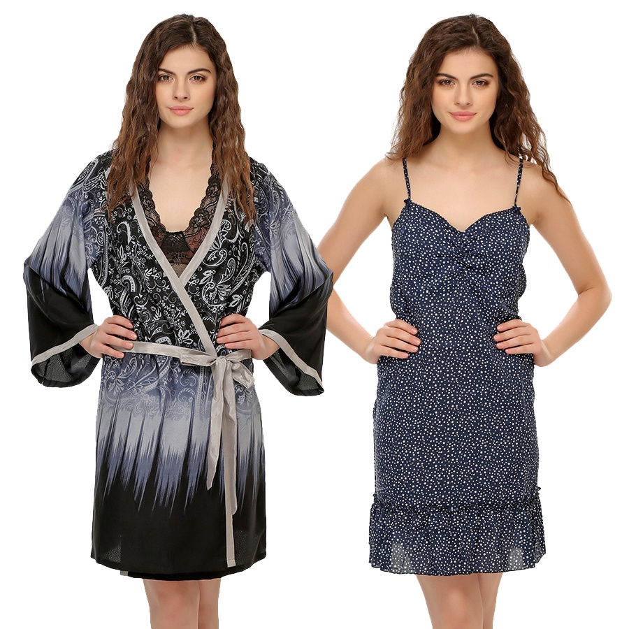 2 Pc Set of Night Slip and Robe