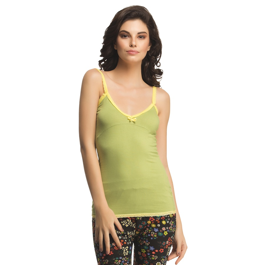 Cotton Camisole In Light Green