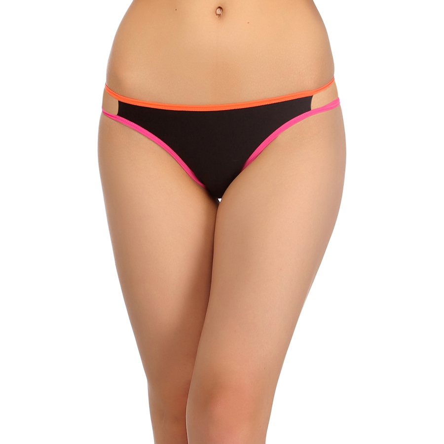 Cotton & Spandex Bikini In Orange