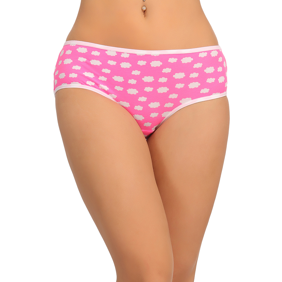 Cotton High Waist Hipster - Pink
