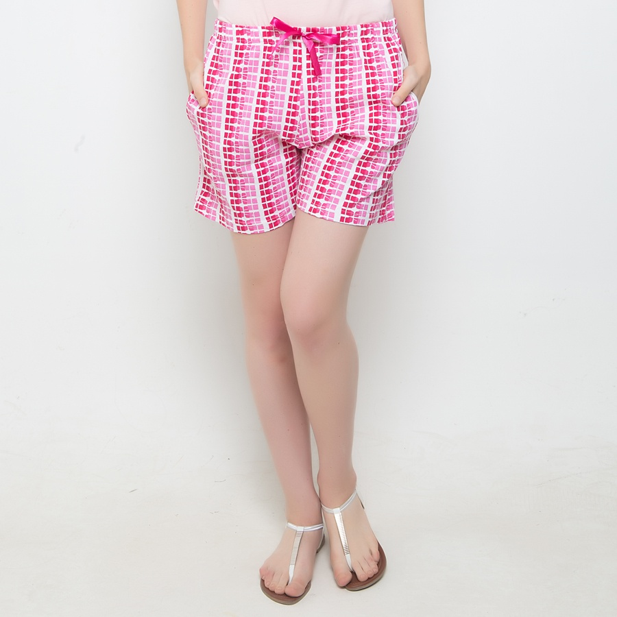 Cotton Shorts With Trendy Prints