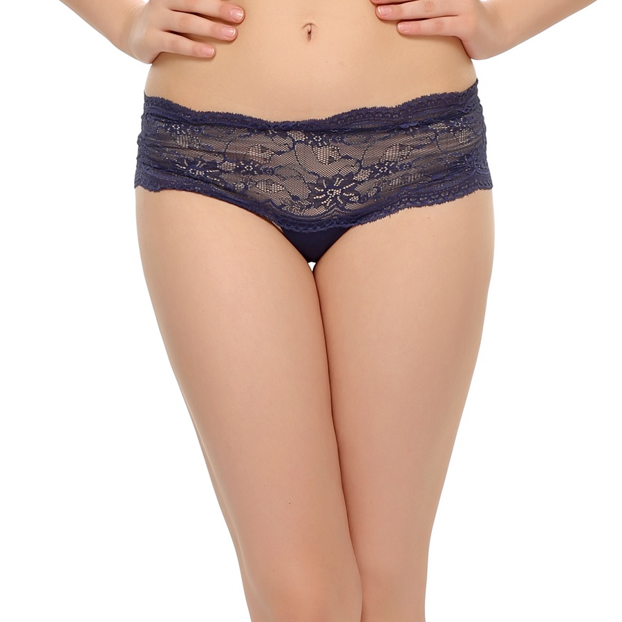 Lace Hipster In Navy