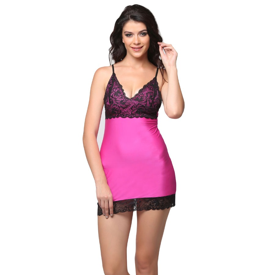 Lacy Babydoll - Pink