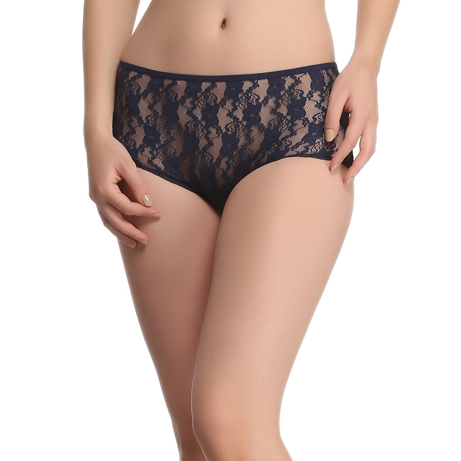 Lacy Boyshorts In Navy