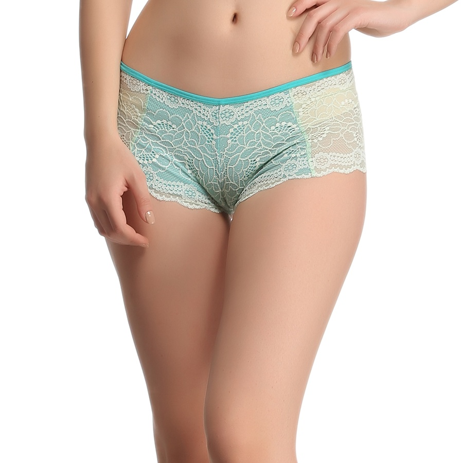 Lace High Waist Hipster - Turquoise